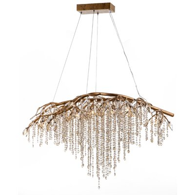 11-Light Waterfall Chandelier Finish: Gold