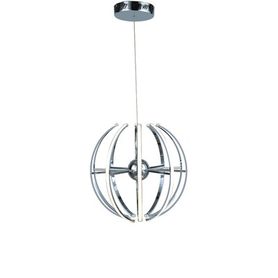 10-Light LED Pendant Finish: Chrome