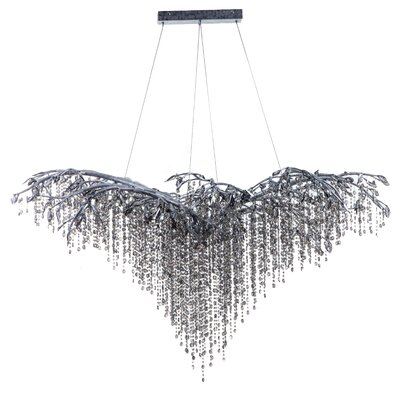 26-Light LED Waterfall Chandelier Finish: Silver
