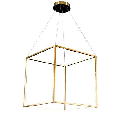LED Geometric Pendant Size: 25.5 H x 25.5 W x 25.5 D