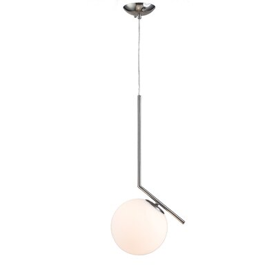 1-Light Globe Pendant Finish: Satin Nickel