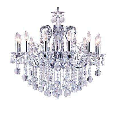 10-Light Crystal Chandelier