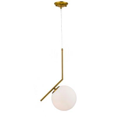 1-Light Globe Pendant Finish: Brass Iron