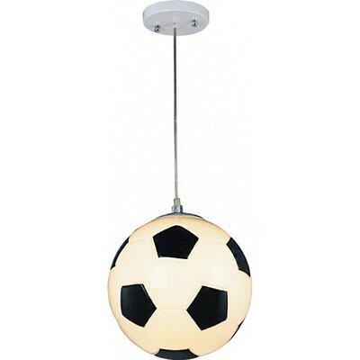 Childrens Soccer Ball 1-Light Globe Pendant