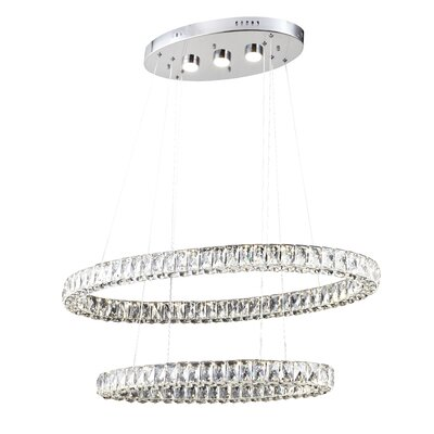 Blanche 3-Light LED Crystal Chandelier
