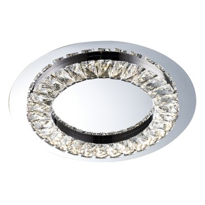 1-Light LED Flush Mount Size: 1.5 H x 14.9 W x 14.9 D