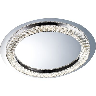 1-Light LED Flush Mount Size: 1.5 H x 22.8 W x 22.8 D