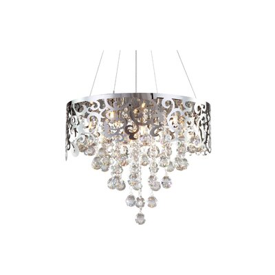 Laser Cut 5-Light Crystal Chandelier
