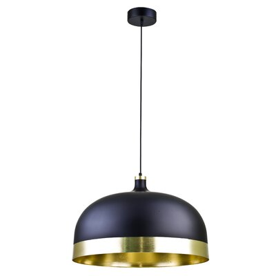1-Light Inverted Pendant Size: 15 H x 22.8 W x 22.8 D