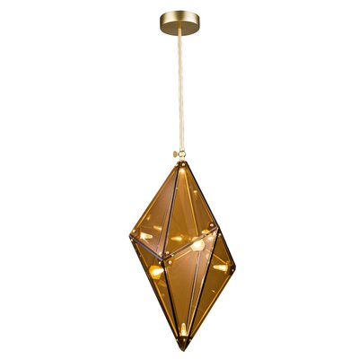 8-Light LED Geometric Pendant Finish: Tea Amber