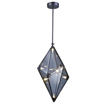 8-Light LED Geometric Pendant Finish: Smoke