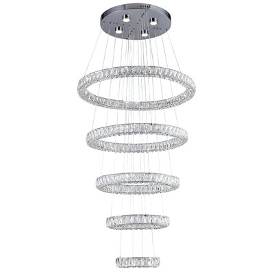 Ring 9-Light LED Crystal Pendant