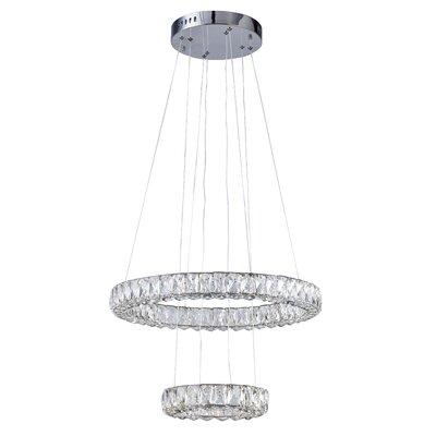 Ring 2-Light LED Crystal Pendant