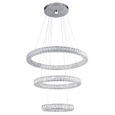 Ring 4-Light LED Crystal Pendant