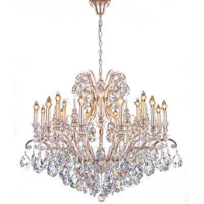 19-Light Crystal Chandelier Finish: Pewter