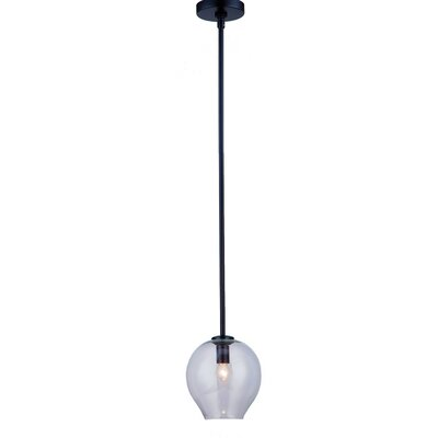 1-Light Mini Pendant Finish: Black