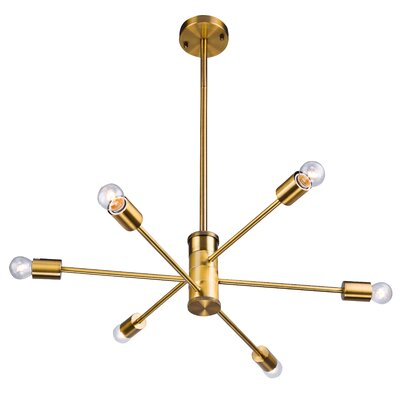 6-Light Sputnik Chandelier Finish: Gold