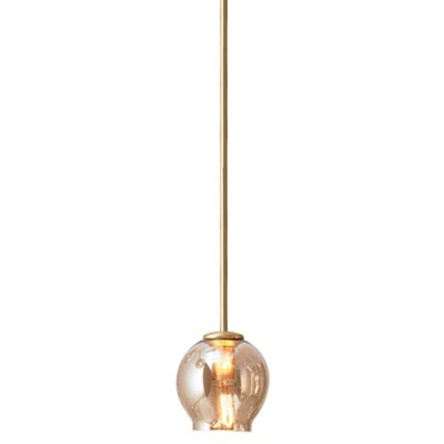 1-Light Mini Pendant Finish: Brass