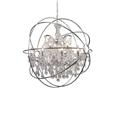 15-Light Crystal Chandelier Finish: Chrome