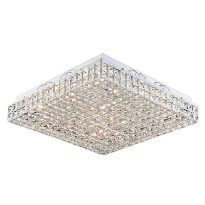 Aguinaldo Crystal Beaded 16-Light Flush Mount