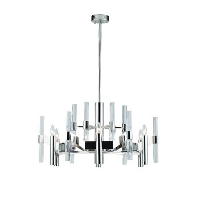 Zonia 6-Light Crystal Chandelier Finish: Chrome