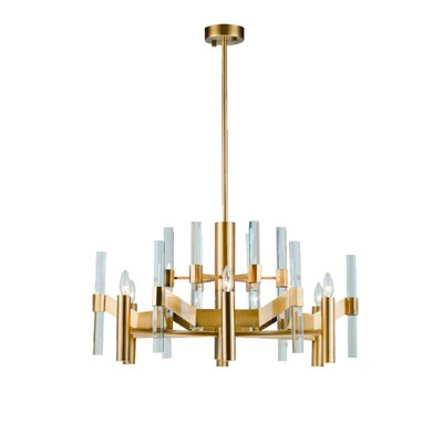 Zonia 6-Light Crystal Chandelier Finish: Antique Brass