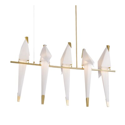Bird Swinging 5-Light Kitchen Island Pendant