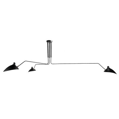 Hamrick 3-Light Semi Flush Mount