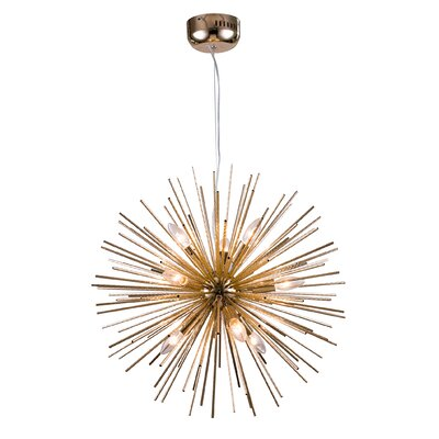 Spike Ball Fixture 9-Light Sputnik Chandelier