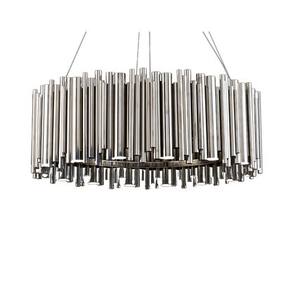 Rod Fixture 16-Light LED Drum Chandelier Finish: Chrome