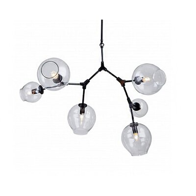 6-Light Sputnik Chandelier Finish: Black