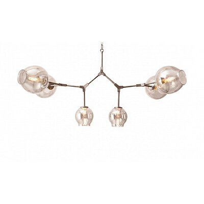 6-Light Sputnik Chandelier Finish: Satin Nickel