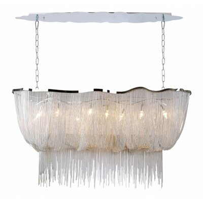 Aluminum Chain 8-Light Crystal Chandelier