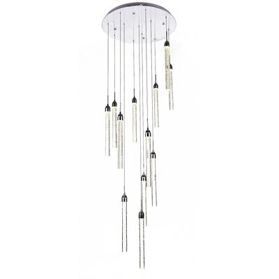 12-Light Cluster Pendant Finish: Chrome