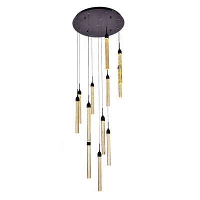 12-Light Cluster Pendant Finish: Dark Brown