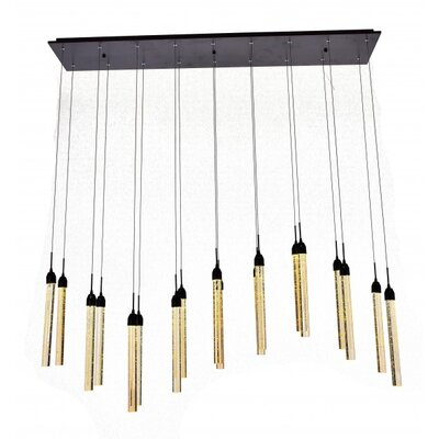 18-Light Cluster Pendant Finish: Dark Brown