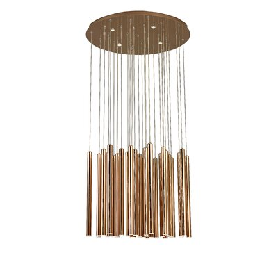 Stainless Steel Rod 33-Light Empire Chandelier