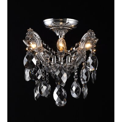 4307 Series 4-Light Semi Flush Mount Finish: Smoke