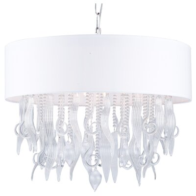 9-Light Drum Chandelier Size: 18.5 H x 19.75 W x 19.75 D
