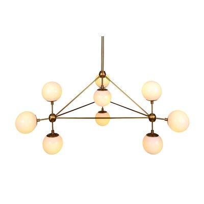 10-Light Geometric Pendant