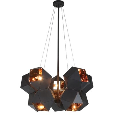 10-Light Geometric Pendant