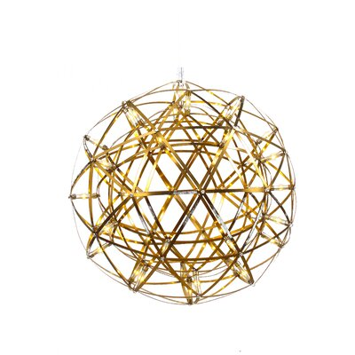 42-Light LED Globe Pendant Size: 17.5