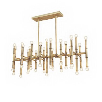 42 Light Kitchen Island Pendant Finish: Antique Brass