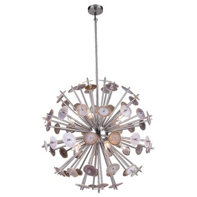 10-Light Geometric Pendant Finish: Shiny Nickel