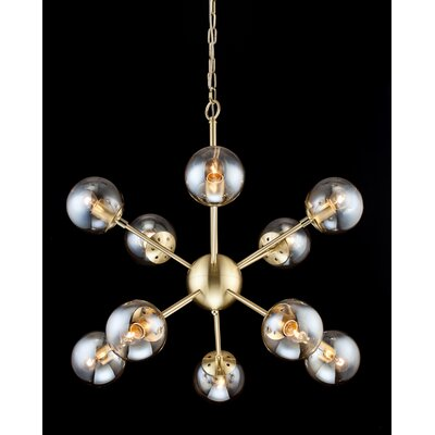 10-Light Sputnik Chandelier Finish: Gold