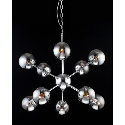 10-Light Sputnik Chandelier Finish: Chrome