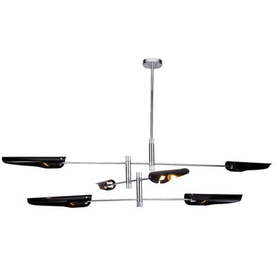 Wildes 6-Light Sputnik Chandelier