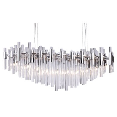 Kellum Glass 20-Light LED Crystal Chandelier