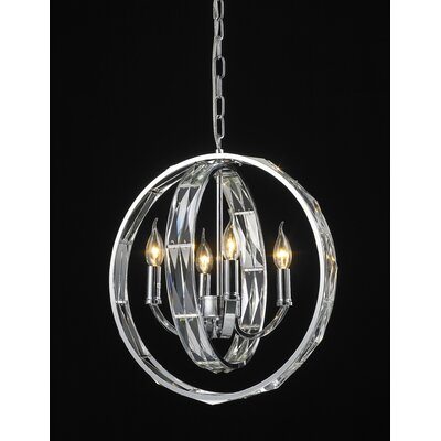 Brownesville 4-Light Crystal Pendant