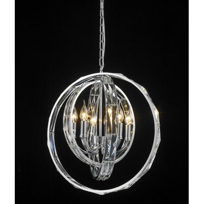 Brownleigh 6-Light Crystal Pendant
